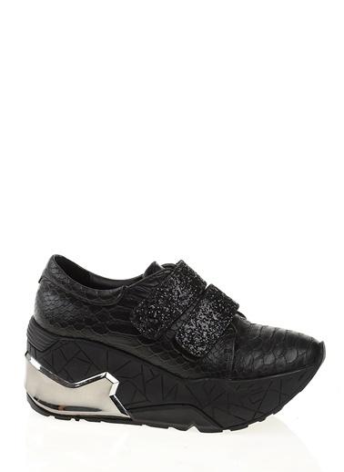 Bambi Platform Dolgu Topuk Ayakkabı Siyah